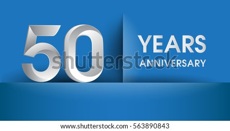 Illustration of happy anniversary gift box present on banner stock