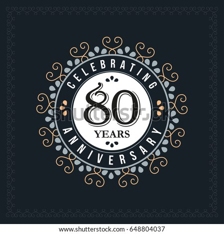 80th Anniversary Stock Images Royalty Free Images
