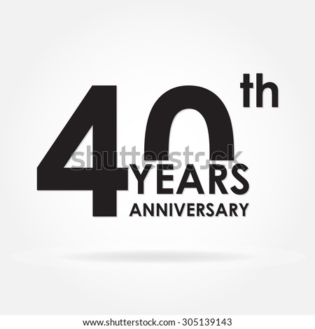 40th anniversary stock images royalty free images vectors 40 years anniversary icon or sign template for celebration and congratulation design vector illustration pronofoot35fo Images