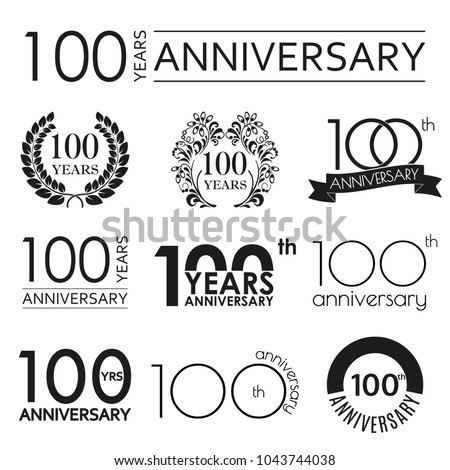 Anniversary logo stock images royalty free images vectors 100th anniversary celebration logo design elements for birthday stopboris Choice Image