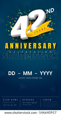 42 Anniversary Stock Images Royalty Free Images Amp Vectors