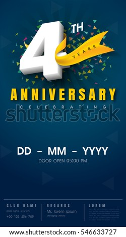4th Anniversary Stock Images Royalty Free Images