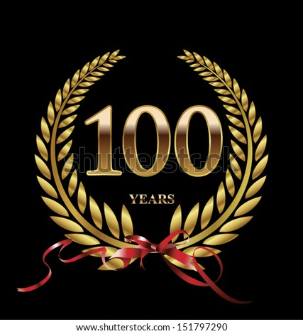 100 years anniversary laurel wreath