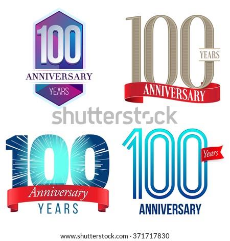 100 Years Anniversary Logo - stock vector