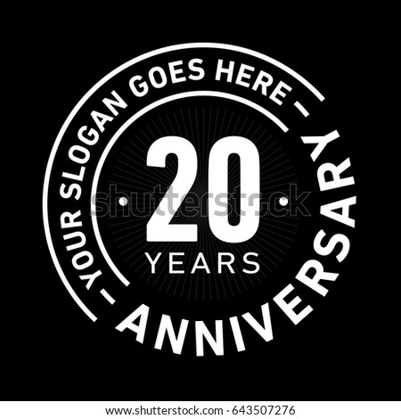 20 years anniversary logo template vector stock vector 643507276 20 years anniversary logo template vector and illustration altavistaventures Image collections