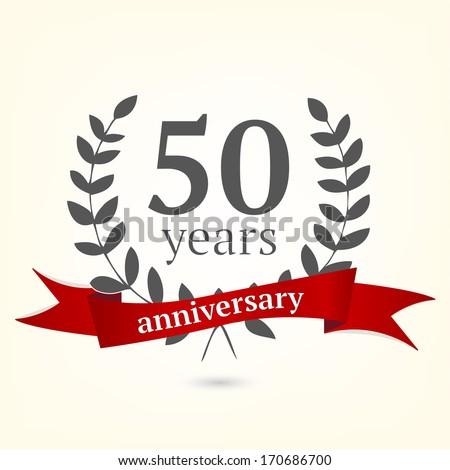 50 years anniversary sign - stock vector