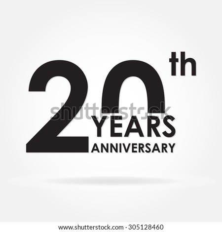 20 Years Anniversary Sign Or Emblem Template For Celebration And Congratulation Design Colorful Vector