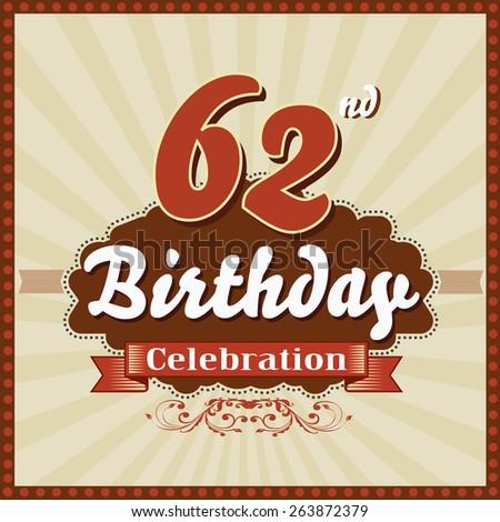 Happy 62nd birthday cards atletischsport happy 62nd birthday cards m4hsunfo