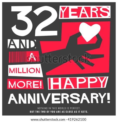 happy 32 years anniversary