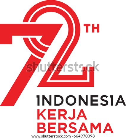 72 Years Indonesia Independence day