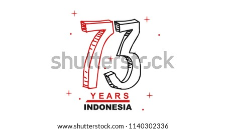 73 Years Indonesian independence Day Logo Wallpaper Background Vector Eps 10