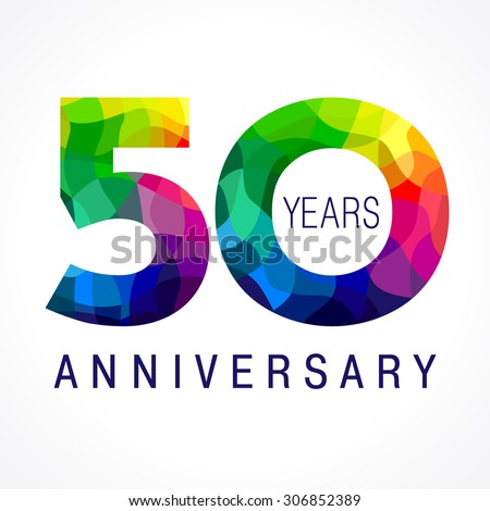 50 years old celebrating colored logo stock photo photo vector 50 years old celebrating colored logo anniversary 50 th vector template numbers happy birthday m4hsunfo