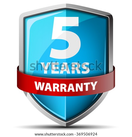 5 years warranty - stock vector