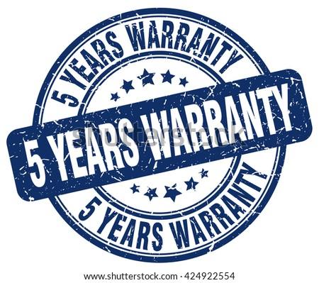 5 years warranty blue grunge round vintage rubber stamp.5 years warranty stamp.5 years warranty round stamp.5 years warranty grunge stamp.5 years warranty.5 years warranty vintage stamp. - stock vector