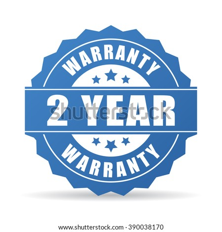 2 years warranty icon isolated on white background - stock vector