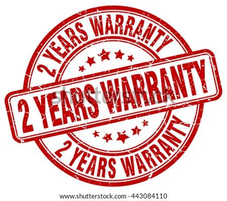 2 years warranty red grunge round vintage rubber stamp.2 years warranty stamp.2 years warranty round stamp.2 years warranty grunge stamp.2 years warranty.2 years warranty vintage stamp. - stock vector