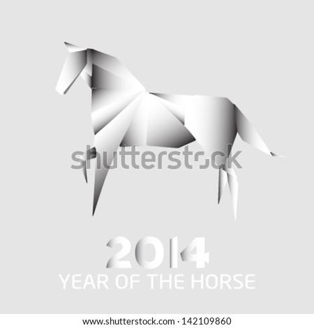 2014 yeras of the horse - stock vector