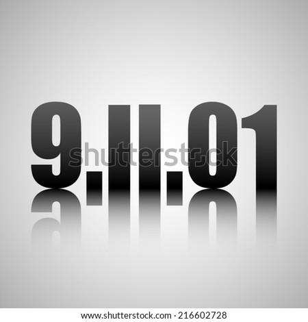 9.11 - stock vector