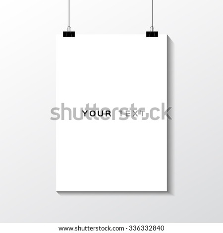 A A Format Paper Text Paper Stock Vector   Shutterstock