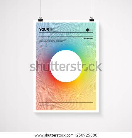 A4 A3 Format Paper Design Text Stock Vector 144558032 - Shutterstock