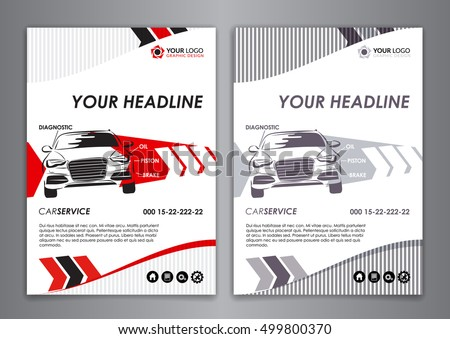 A5 a4 service car business card stock vector 499800370 shutterstock a5 a4 service car business card template auto repair brochure templates identity illustration fbccfo Image collections