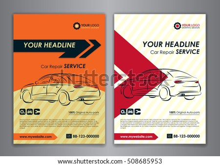 A5 a4 set car repair service stock vector 508685953 shutterstock a5 a4 set car repair service business card templates auto repair shop business catalogue wajeb Images