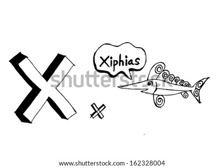A b c d e f g h i j k l m n o p q r s t u v w x y z cartoon text font Hand drawing vector letters  - stock vector