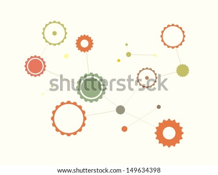 A background of gears connection - stock vector