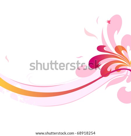 A background with floral decorative elements - stock vector