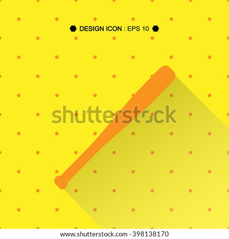 A Baseball Bat Vector EPS10, Great for any use. - stock vector