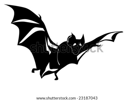 a bat flies - stock vector