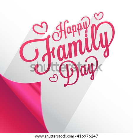 A Beautiful card of Happy family day with stylish calligraphy.