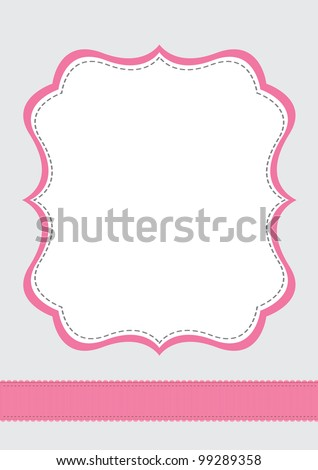 a beautiful pink and grey background - stock vector