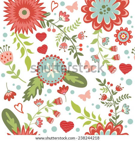 A beautiful seamless floral pattern. Vector illustration