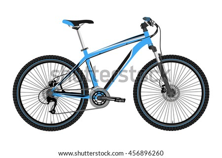 a Bicycle vector on a white background