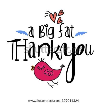 A big fat thank you - stock vector