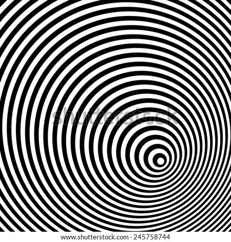 A black and white optical illusion - stock vector