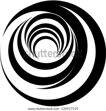 A black and white relief - Optical illusion - stock vector