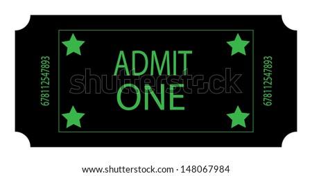 A Black Ticket. Vector - stock vector