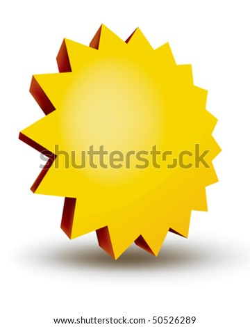 A blank 3d promotional icon - stock vector