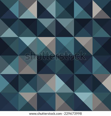 A blue abstract vector pattern background - stock vector