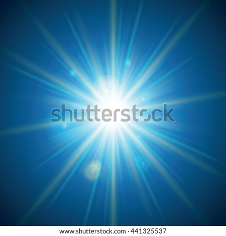 A blue color design with a burst. Vector illustration