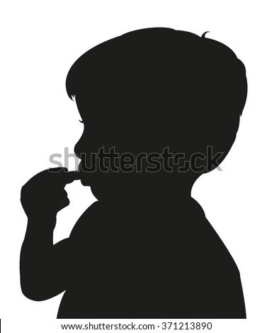 Eating Silhouette