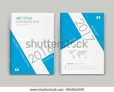brochure front cover design - a4 brochure cover design blue triangle stock vector