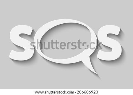 a bubble SOS vector illustration - stock vector