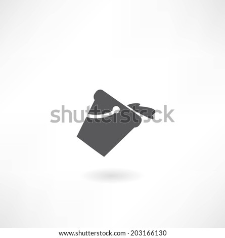 a bucket of water icon - stock vector