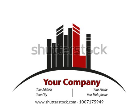 Business Card Some High Buildings On Stock Vector 1007175949