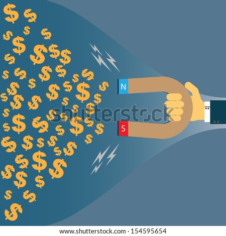 A business magnate is an entrepreneur or business owner who has achieved significant success, wealth, and prominence from a particular industry - stock vector