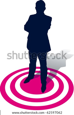 A businessman selected, conceptual business illustration. - stock vector