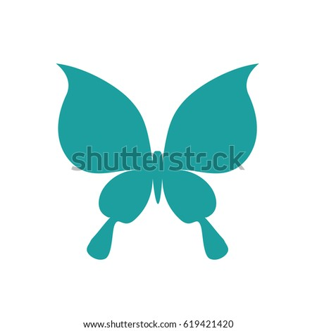 Butterfly Symbol Template Laser Cutting Stock Vector 619421420